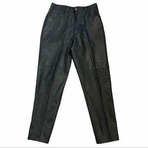 MARGARET GODFREY 100% Leather Pants High Rise